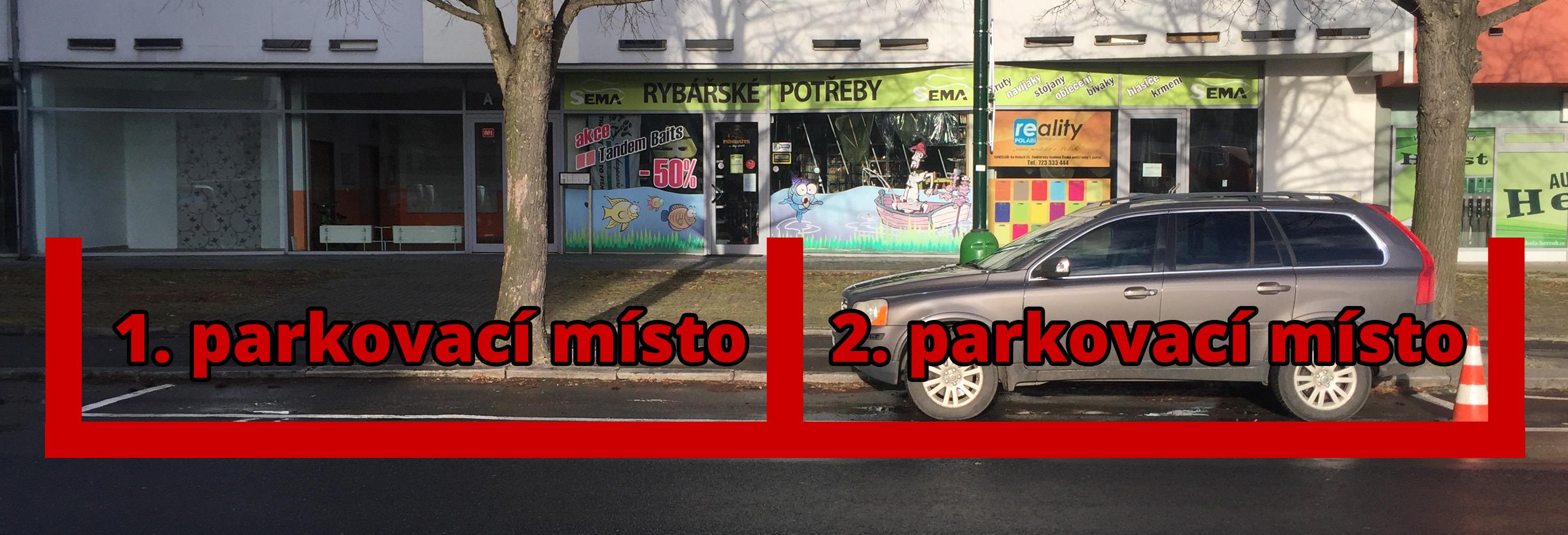 Připravili jsme 2 parkovací místa pro naše zákazníky